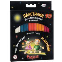 """Пластилин флюоресцентный """"Флюрики"""" (10 цветов)"""