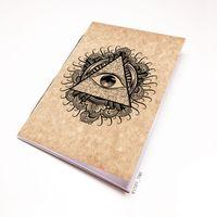 """Блокнот крафт """"Всевидящее око"""" А7 (арт. 942)"""
