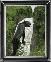 "Вышивка крестом ""Черная пантера"" (435х555 мм)"