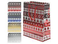 """Пакет бумажный подарочный """"Новогодний"""" (в ассортименте; 23х18х10 см; арт. ABD200010)"""