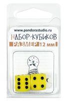 "Набор кубиков D6 ""Опак"" (12 мм; 2 шт.; желтый)"