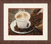 """Вышивка крестом """"Ароматный кофе"""" (177х229 мм)"""