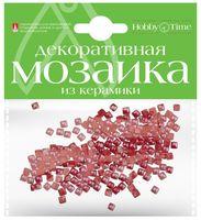 Мозаика декоративная из керамики №6 (4х4 мм; 200 шт.; красный)