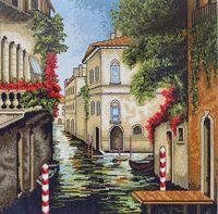 """Вышивка крестом """"Венеция в цветах"""" (285х285 мм)"""