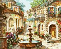 """Картина по номерам """"Городской фонтан"""" (400x500 мм; арт. MG1113)"""