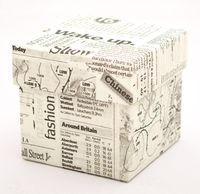 "Подарочная коробка ""Newspapers"" (7,5x7,5x7,5 см)"