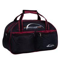 Спортивная сумка П05 (чёрно-бордовая)