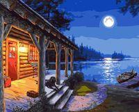 "Картина по номерам ""Ночная рыбалка"" (400х500 мм)"
