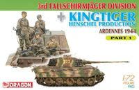 "Набор миниатюр ""3rd Fallschirmjager Division & Kingtiger Henschel Production Ardennes 1944 Part 1"" (масштаб: 1/72)"