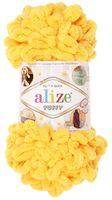 """Пряжа """"ALIZE. Puffy №216"""" (100 г; 9,2 м; желтый)"""