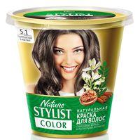 "Краска для волос ""Nature Stylist Color"" тон: 5.1, дымчатый каштан"