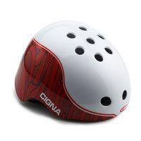 """Шлем велосипедный """"WT-025"""" (белый/красный; арт. 6153)"""