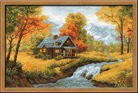 """Вышивка крестом """"Осенний пейзаж"""" (380х260 мм)"""