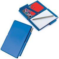 Мемо-кейс: записная книжка, визитница и авторучка (голубая)