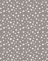 "Простыня хлопковая ""Stars Grey"" (220х240 см)"
