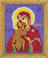 """Вышивка бисером """"Пресвятая Богородица Феодоровская"""" (120х160 мм)"""