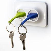 """Брелок и двойной держатель для ключа """"Unplug"""" (голубой, зеленый)"""