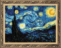 "Вышивка крестом ""Ван Гог. Звездная ночь"" (300х400 мм)"