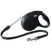 """Поводок-рулетка для собак """"New Classic"""" (черный, размер S, до 12 кг/5 м, арт. 11781)"""