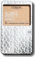 """Тональное средство для лица """"Alliance Perfect Genius 4в1"""" (тон: 3D, золотисто-бежевый)"""