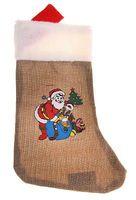 Носок новогодний текстильный (37х25 см)