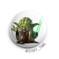 """Значок маленький """"Star Wars. Мастер Йода"""" (арт. 624)"""