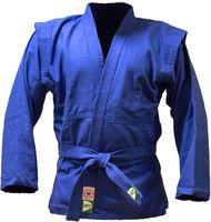 Куртка для самбо JS-302 (р. 1/140; синяя)