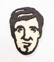 """Значок деревянный """"Стивен Фрай"""""""