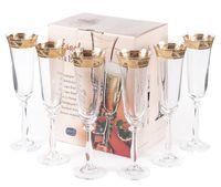 """Бокал для шампанского стеклянный """"Angela"""" (6 шт.; 190 мл; арт. 40600/378804/190)"""
