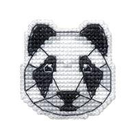"""Вышивка крестом """"Значок. Панда"""" (44х45 мм)"""