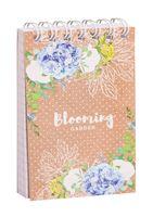 """Блокнот в клетку """"Цветы. Craft Flowers"""" (А7)"""