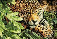 """Вышивка крестом """"Леопард"""" (400х280 мм)"""