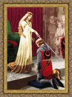 """Вышивка крестом """"Посвящение в рыцари"""" (565x400 мм)"""