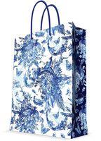 "Пакет бумажный подарочный ""Голубые цветы"" (17,8х22,9х9,8 см; арт. 44218)"