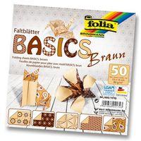 Бумага коричневая для оригами (150х150 мм; 50 листов)
