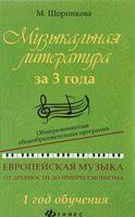 Музыкальная литература за 3 года. Европейская музыка от древности до импрессионизма. 1 год обучения