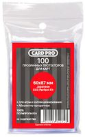 "Протекторы ""Card-Pro. Japanese CCG Perfect Fit"" (60х87 мм; 100 шт.)"