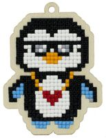 """Алмазная вышивка-мозаика """"Брелок. Арктический пингвин"""" (65х87 мм)"""