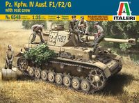 "Сборная модель ""Танк Pz. Kpfw. IV Ausf. F1/F2/G с фигурками экипажа"" (масштаб: 1/35)"