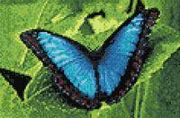 "Алмазная вышивка-мозаика ""Голубой морфо"" (200х300 мм)"