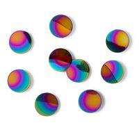 "Набор наклеек на стену ""Confetti Dots"" (10 шт.; радужный)"