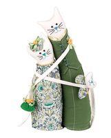 """Набор для шитья из ткани """"Коты-обнимашки. Нефритовые"""""""