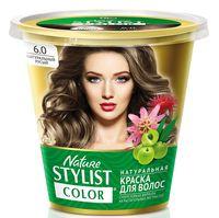 """Краска для волос """"Nature Stylist Color"""" тон: 6.0, натуральный русый"""