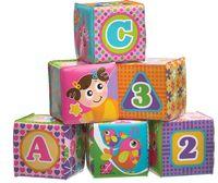 """Набор игрушек для купания """"Розовые кубики"""" (6 шт.)"""