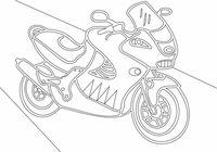 """Трафарет для рисования песком """"Мотоцикл"""" (А4)"""
