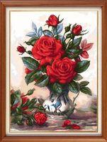"""Вышивка крестом """"'Красные розы"""" (310х420 мм)"""