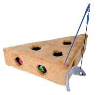 """Игрушка для кошек """"Сыр с мышью и 3 мячиками"""" (36х26х8 см)"""