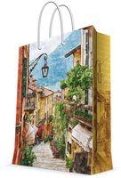 """Пакет бумажный подарочный """"Итальянский дворик""""  (17,8х22,9х9,8 см; арт. 43510)"""