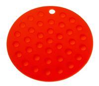 Подставка под горячее силиконовая (175x2 мм; красный)