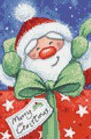 """Алмазная вышивка-мозаика """"Санта с подарком"""" (200х300 мм)"""